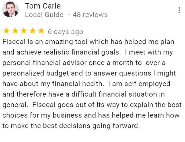 Tom Carle's review on Fisecal