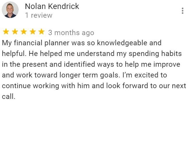 Nolan Kendrick's review on Fisecal