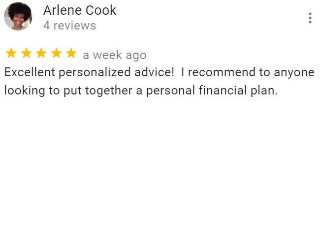 Arlene Cook's review on Fisecal