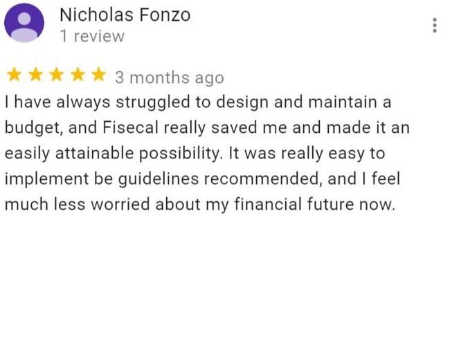 Nicholas Fonzo's review on Fisecal