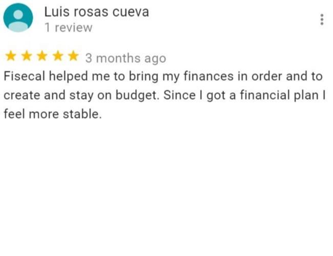 Luis Rosas Cueva's review on Fisecal